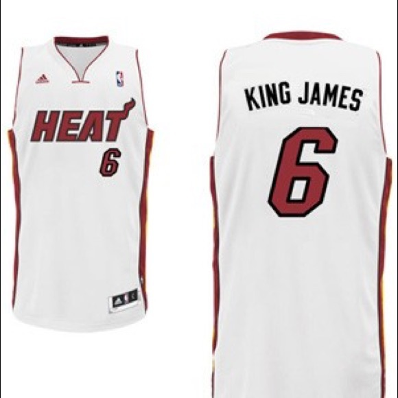 buy popular 190f6 1eda7 adidas LeBron James Miami Heat King James jersey NWT